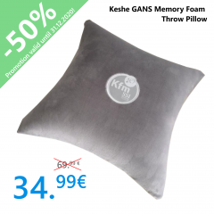 Keshe GANS Memory Foam Throw Pillow