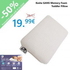 Keshe GANS Memory Foam Toddler Pillow